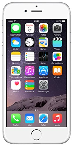 Apple iPhone 6 Smartphone (4,7 Zoll (11,9 cm) Touch-Display, 16 GB Speicher, iOS 8) silber