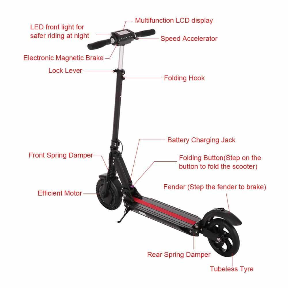 elektro scooter lixada bei tomtop kr ftig sparen mit unserem gutschein voondo. Black Bedroom Furniture Sets. Home Design Ideas